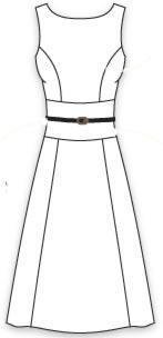 выкройка платья без рукавов с приталенным лифом