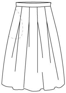 выкройка юбки тюльпан с карманами в боковых швах