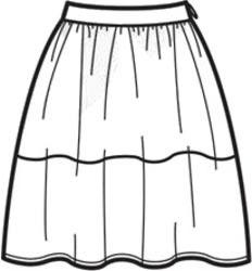 выкройка пышной юбки со сборкой