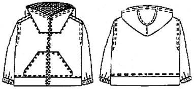 Выкройка куртки с квадратной горловиной