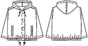 Выкройка курточки без подкладки