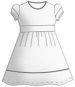 Выкройка прямого приталенного платья с коротким рукавом
