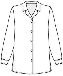 выкройка женской блузки с длинным рукавом