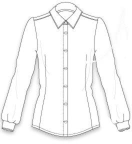 выкройка классической женской блузки в офисном стиле <i>девочек</i> приталенного фасона