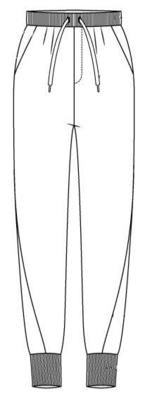 Выкройка домашних штанов на резинке