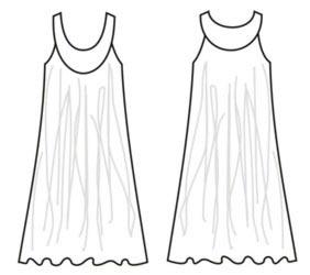 Выкройка приталенного платья с рукавом