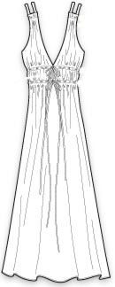 выкройка летнего платья в греческом стиле с глубоким вырезом