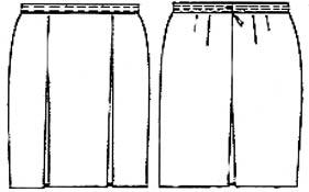 Выкройки юбок: прямая юбка мини.