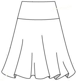 Готовая выкройка юбки на кокетки