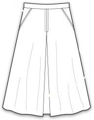 выкройка юбка брюки - самая простая модель