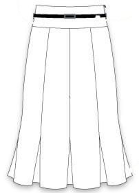 выкройка юбки годе 8 клиньев