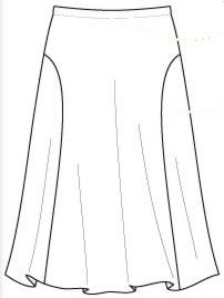 выкройка юбки с рельефами