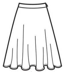 выкройка юбки полусолнце до колена