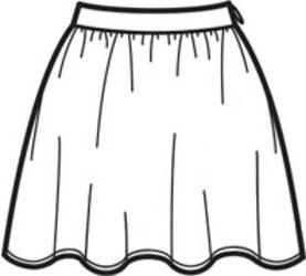 выкройка пышной короткой юбки